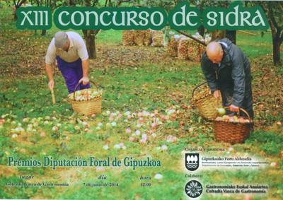 XIII. Concurso de Sidra Diputación Foral de Gipuzkoa