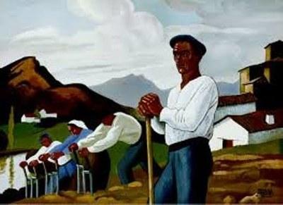 """El campesinado y la primavera a través de la obra de arte """"Les travailleurs au champ"""""""