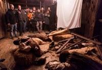 Grabación del documental de la matanza de los balleneros vascos en Igartubeiti