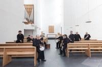 La Banda Municipal de Txistularis en el lagar de Igartubeiti