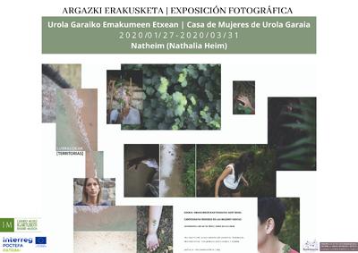 La exposición  Lurraldeak [Territorias] de Nathalia Heim, resultado de la residencia artística PATRIM+ en Igartubeiti, llega a la Casa de Mujeres de Urola Garaia